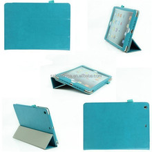 Three Fold Crazy Horse PU Leather Micro Fiber Back Cover Cases for Ipad Tablet Case,for Ipad Air Cover Cases
