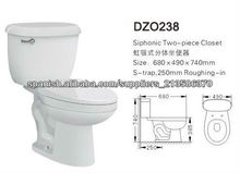 DZO238 Dos piezas Siphonic occidental inodoro
