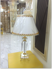 LED crystal chandelier bead table lamp