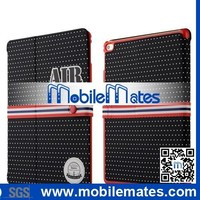 Baseus Basball Style Smart Weak Sleep Flip PC+ PU Leather Case for iPad Air 2 with Holder