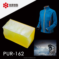 NANPAO Light Yellow Transparent Roller coating PUR Adhesive For Textile application