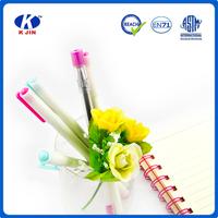 High quality cheap pen transparent cover pull plastic ballpoint pen refill