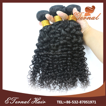 Grade 8A deep curly hair extension india curly weave ponytail wholesale pure indian remy virgin human hair weft