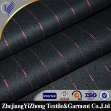 Factory wholesale stripe suit fabric polyester spandex fabric