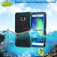 2015 new fashion design PC +TPU+ PET waterproof phone case for samsung note 5 edge