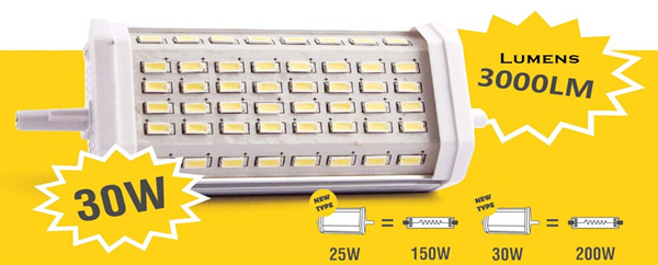 High Lumens Retrofit AC100-240V 15w led r7s, 16w led r7s