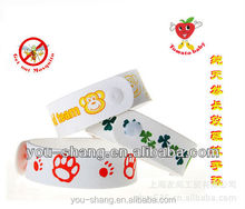 Micro fiber (TPU) deet free anti mosquito bracelet/wristband with SGS non-toxic report