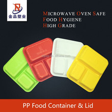 3 - grid food grade take away disposable plastic food container manufacturer
