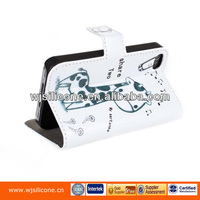 Mobile cover with card slot flip PU case for iphone 5
