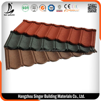 SGB Popular Classical Colorful Stone Coated Metal Roofing Tile/Metal Corrugated Tile Roofing/Stone Coated Metal Roof Tile