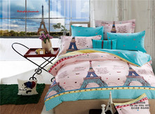 3D Eiffel Tower Print Bedding set Comforter Set and Bed Sheet Sets Textile Fabric