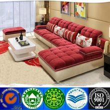 Modern red living room fabric sofa fabric recliner sofa fabric corner sofa with chaise lounge OEM