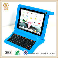 blue color child proof EVA foam keyboard cover for ipad 2
