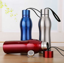 500ml BPA free sport water bottle double wall stainless steel vacuum flask with straw tea infuser water filter bottle free