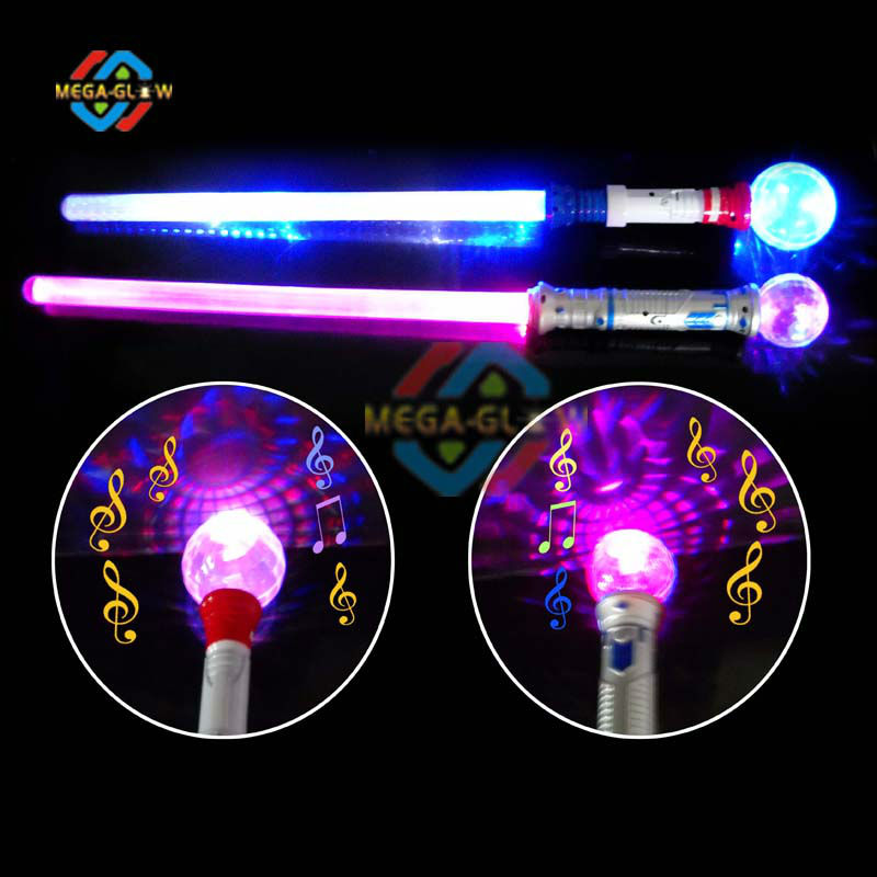 Flashing light up stick spinning wand children toy magic for Light up wand