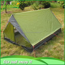 green camping tent 2 persons, triangle style camping tent from china, outdoor tent for camping