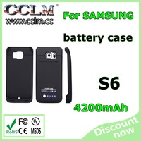 4200mAh Rechargeable Backup External Battery Case for Samsung GALAXY S6 Edge