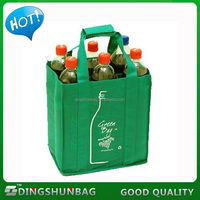 Customized hot selling non woven 6 bottle wine tote bag
