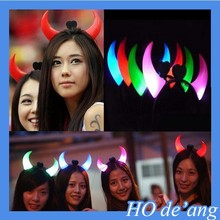 Hogift 2015 Promotion emitting horn headband/party accessories
