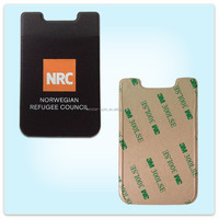 High quality lycra fabric 3m sticker cell phone card holder , mobile phone card case , new fashion phone smart wallet