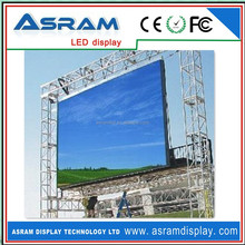 More brightness and good heat radiating effect led video curtain rental display