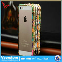 New arrival custom cheap metal mobile phone cover for iphone 5 5s diamond case