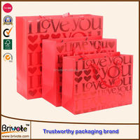 large paper shopping bags/hot glod stamping bags/paper gift bags with handles