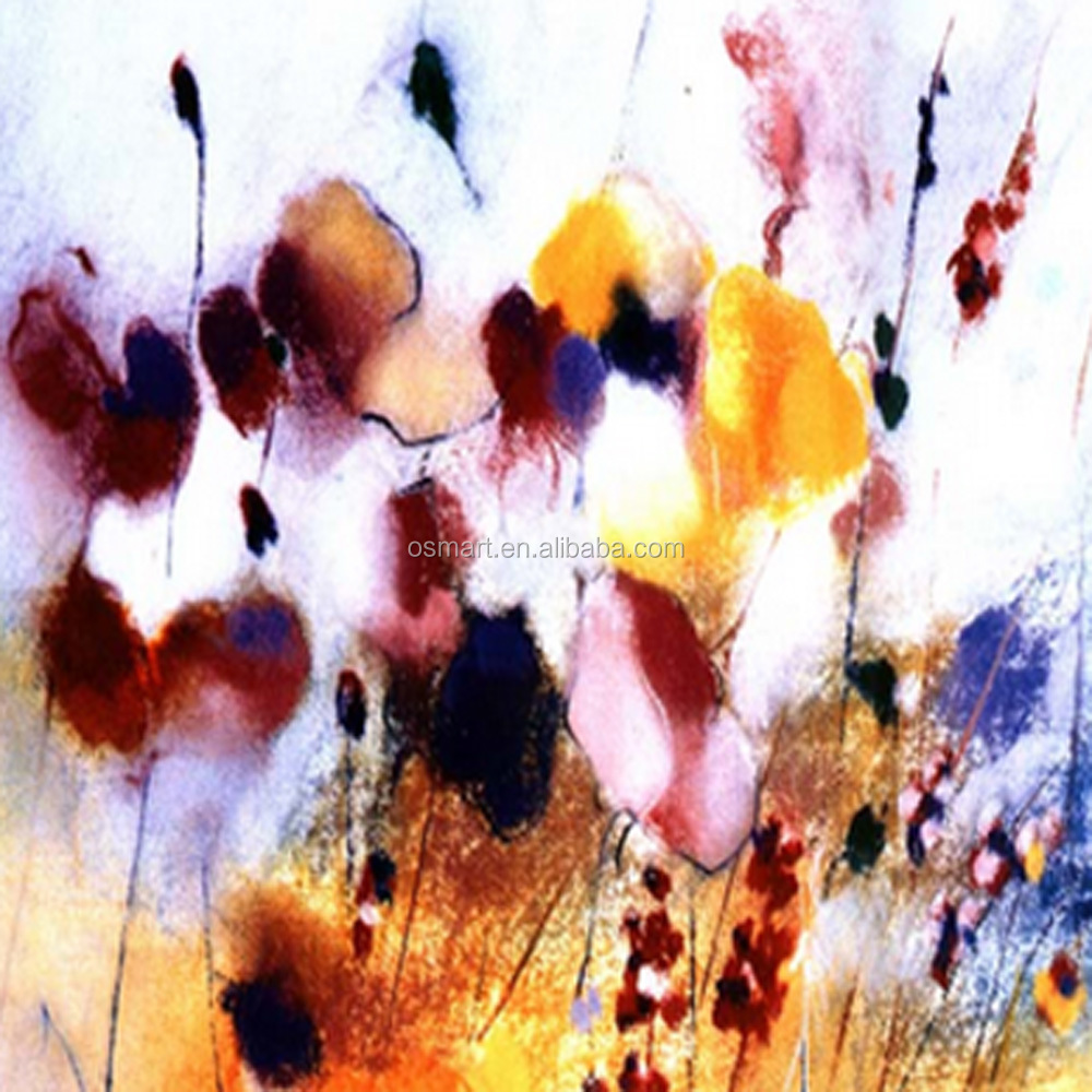 Newest design abstract painting handmade abstract flower painted 1g 2g mightylinksfo