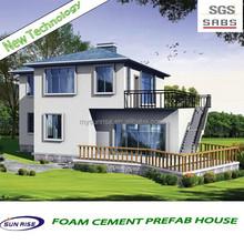The Newest fast installation export duplex villa designs prefabricated wooden villa