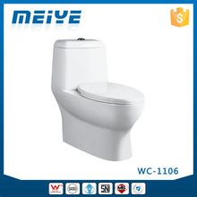 WC-1106 Washdown One-Piece Toilet with Soft Closing Cover Ramp Down Closer, Water Closet Toilet Bowl
