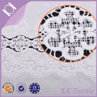 New design cotton embroidery lace fabric for lady dress cotton design