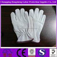 "Hot selling 10"" Inch light Beige pig leather driver gloves"