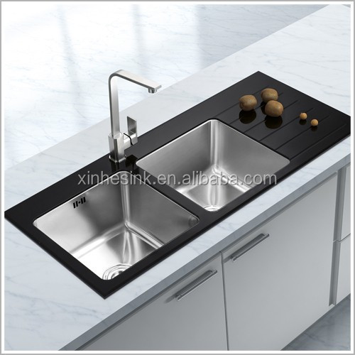 Best Stainless Steel Sinks Uk : Glass Top Stainless Steel Kitchen Sink, Stainless Steel Tempered Glass ...