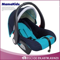 2014 new adjustable handle with 3 points belt harness and portable baby car seat