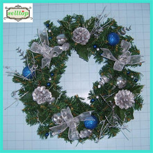 cheap direct factory decorative christmas wreath making supplies