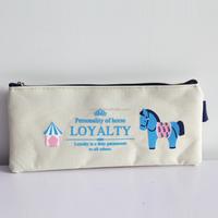 Cotton stationary pocket pencil bag for school children