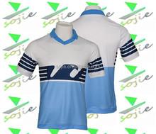 2016 club custom soccer jerseys blue and white soccer jerseys , sublimation soccer jersey printing