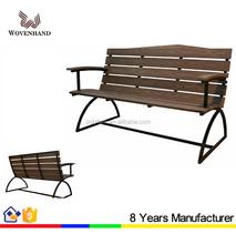 Public metal outdoor bench