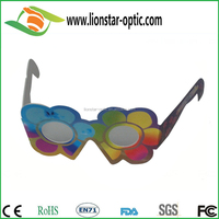 Customized Shape Cute Pretty Printing Paper 3D Firework Diffraction Glasses