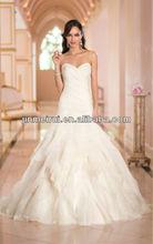 A-Line Sweetheart Floor length Organza wedding dress204
