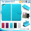 "Factory Price Mobile Case For Iphone 6 4.7"", Wallet Leather Mobile Phone Cover For Iphone 6 Case"