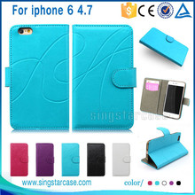 """Factory Price Mobile Case For Iphone 6 4.7"""", Wallet Leather Mobile Phone Cover For Iphone 6 Case"""