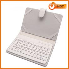 2014 caso hotselling teclado blanco del bluetooth de 7 pulgadas