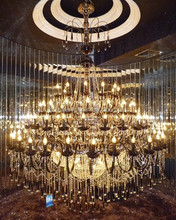 classical and wonderful glass crystal pendant light for chandelier for hotel lobby with E27