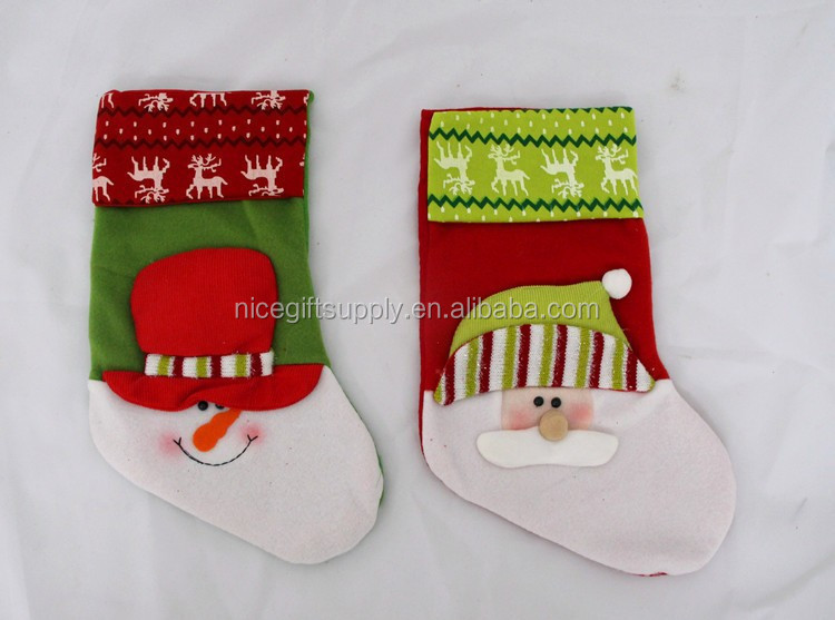 Wholesale socks with santa claus hat christmas stockings christmas