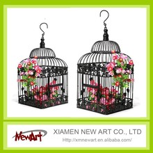 Black and White birdcage hanging birdcages decorative bird cages for weddings