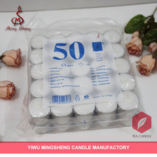 Factory produce 50pcs 23g white tealight candle
