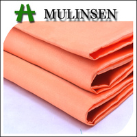 Mulinsen Textile Plain Dyed Satin Woven Textured Polyester Fabric