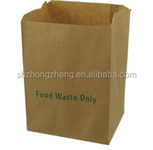 Brown Paper Compostable Caddy Bin Liners Paper bag