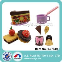 Happy funny play children plastic mini cute sweet cake kitchen toys